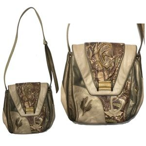 Sharif Vintage Snakeskin Crossbody Shoulder Bag